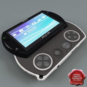 3d model sony psp n1008 black