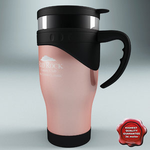 3ds max thermo cup red