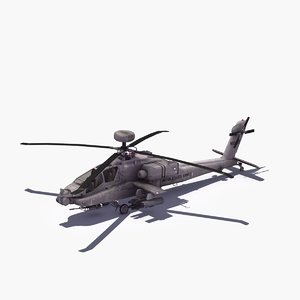 ah64d longbow apache helicopter 3d model