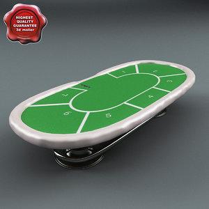 poker table green 3d model