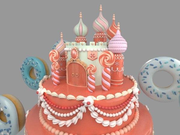carstle donuts shoppingmall 3D model
