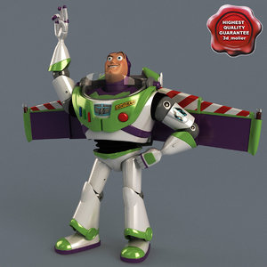 buzz lightyear pose 3 3d model