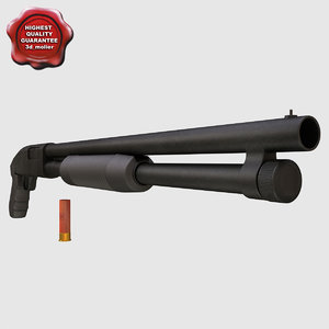 3d shotgun mossberg 500a cruiser model