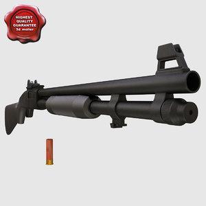 shotgun mossberg 590 3d max