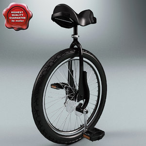 unicycle huni-rex 3d model
