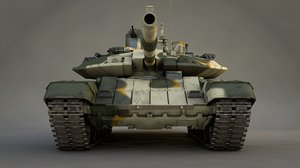 main battle tank t-90 3D model
