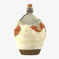 3D desert bottle modelling