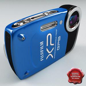 3ds max fujifilm finepix xp30 blue
