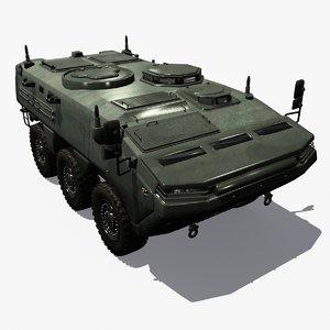 3d max realistic arma 6x6 turkey