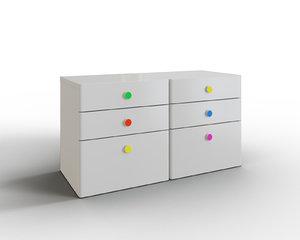 3D stuva 6-drawer dresser furniture