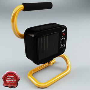3d 3ds ceramic fan heater markel
