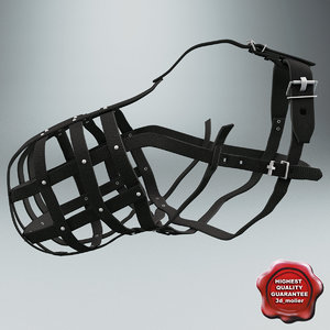 3d dog muzzle v4 model