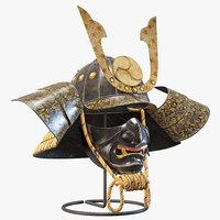 3D kabuto helmet model