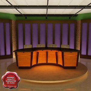 3ds max news tv studio v2