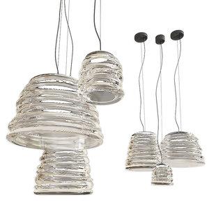 bibendum karman lamp set 3D model