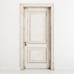 3D old classic door