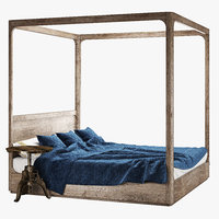 restoration hardware bed 3D model