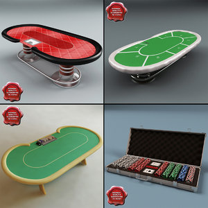 3ds max poker set table