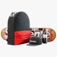 Supreme decorative set black