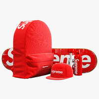 Supreme decorative set red