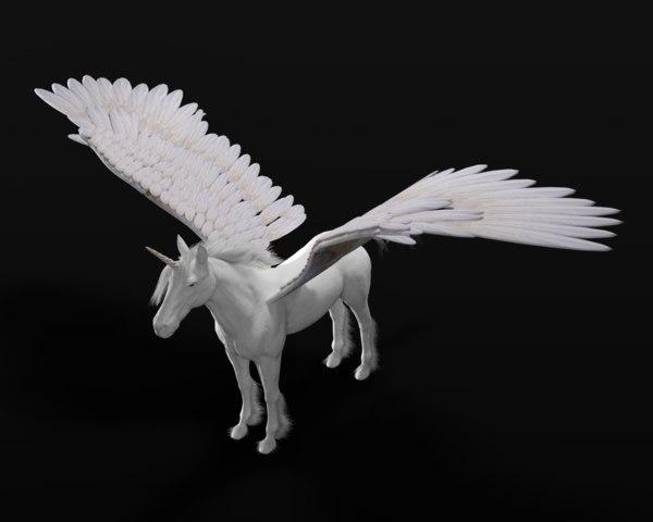 3D pegasus rigged