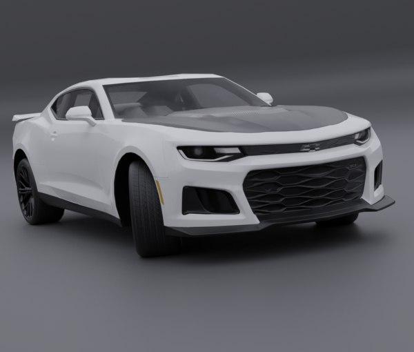 3D model chevrolet camaro zr1 2017