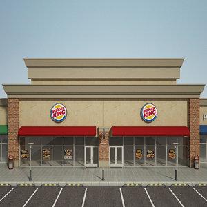 3D model retail store build