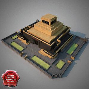 3d lenins mausoleum model
