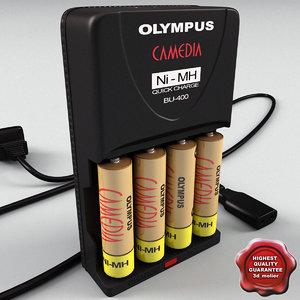 3ds max olympus aa aaa battery