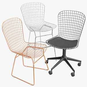 wire chairs 3D model