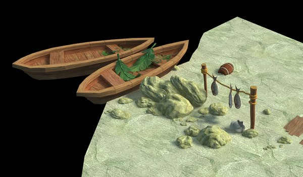 lakeside sand coast 3D