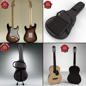 3d guitars cases model