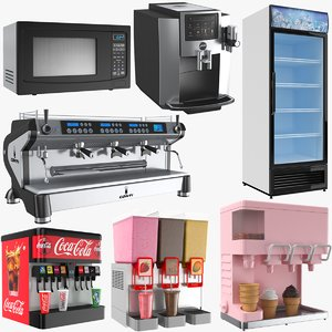 cafe appliances 3D model