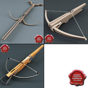 medieval crossbows bow 3d model