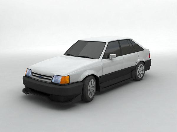 1986 escort 3D