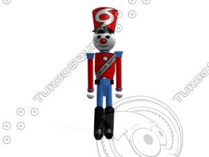 walking nutcracker soldier 3d model