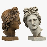 head sculpture apollo model
