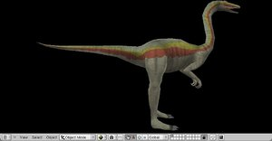 dinosaur ornithomimus 3d model