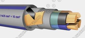 3d model eg-ymekaszh 0 6-1kv 4x35