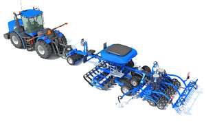 new holland tractor seed 3D model