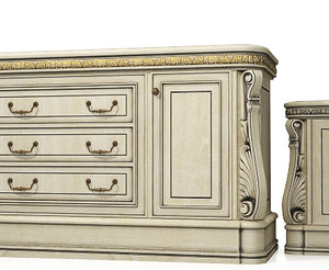 3d model classical commode