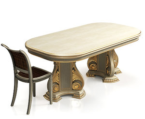 classical table chair max