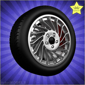 car wheel c4d