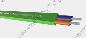 3d model of plug lighting h05rnh2-f 300-500