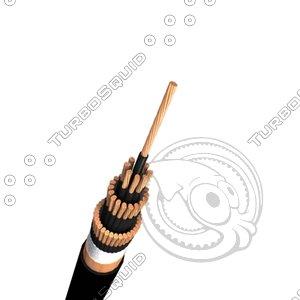 control cable 3d model