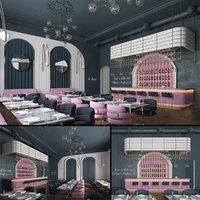 luxury restaurant 3D model