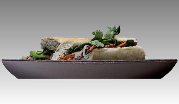3D baguette model