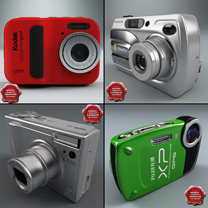 3d model digital cameras v3