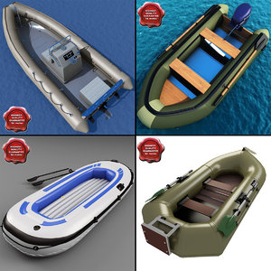 inflatable boats 3d model
