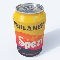3D model softdrink paulaner spezi
